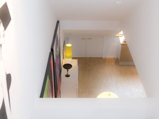 Maisonette Wohnung, Dortmund Moderner Flur, Diele & Treppenhaus von EINRAUMKONZEPT Modern