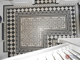 ทางเดินในเมดิเตอร์เรเนียนห้องโถงและบันได โดย Kolory Maroka เมดิเตอร์เรเนียน