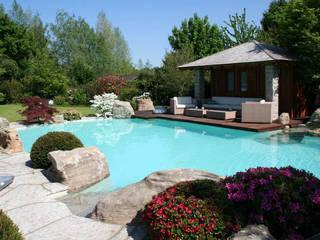 Natural-Pool in Braunschweig: moderner Garten von Kirchner Garten + Teich GmbH