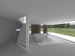 Corridor & hallway by Hackenbroich Architekten
