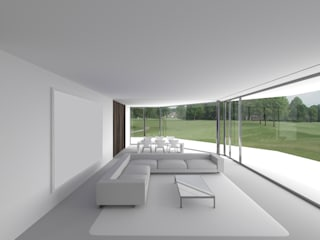 MMR Haus:  Wohnzimmer von Hackenbroich Architekten