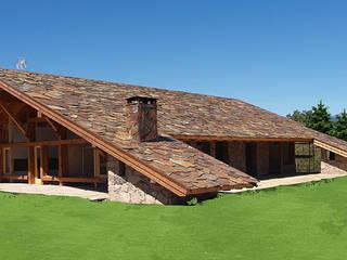 La casa del tejado hasta el suelo. Becerril de la Sierra, Madrid de Manuel Monroy Pagnon, arquitecto Rústico