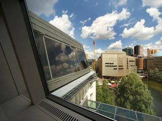 RPU: Dachgeschoss- Umbau/ Konferenzräume a-base I büro für architektur Klassische Geschäftsräume & Stores