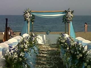 bodas en la Playa. decoracion:  de estilo  de alfombra roja