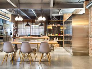 Bajo comercial convertido en loft (Terrassa) Cocinas de estilo rústico de Egue y Seta Rústico