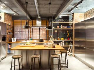 Bajo comercial convertido en loft (Terrassa): Cocinas de estilo  de Egue y Seta