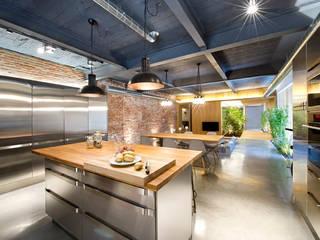Bajo comercial convertido en loft (Terrassa): Comedores de estilo rústico de Egue y Seta