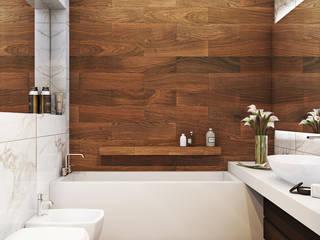 Casas de banho minimalistas por Angelina Alekseeva