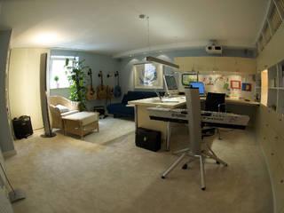 Das Arbeitszimmer für den Musikbegeisterten:  Arbeitszimmer von Innenarchitektin Claudia Haubrock,Skandinavisch