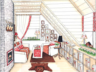 Hüttenzauber:  Wohnzimmer von Innenarchitektin Claudia Haubrock,Ausgefallen