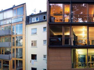 Deutschlands erstes Wohn- und Geschäftshaus im Passivhaus-Standard Moderne Bürogebäude von A-Z Architekten Modern