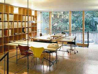Deutschlands erstes Wohn- und Geschäftshaus im Passivhaus-Standard Minimalistische Bürogebäude von A-Z Architekten Minimalistisch