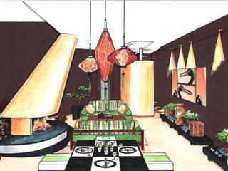 Asiatisches Wohnzimmer:  Wohnzimmer von Innenarchitektin Claudia Haubrock,Asiatisch