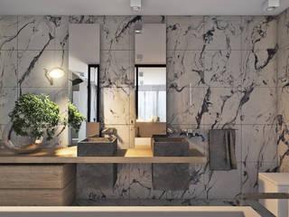 Banheiros  por Angelina Alekseeva , Minimalista