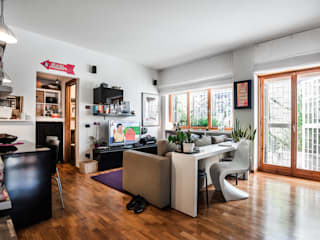 Smart house Soggiorno moderno di Giulia Villani - Studio Guerra Moderno