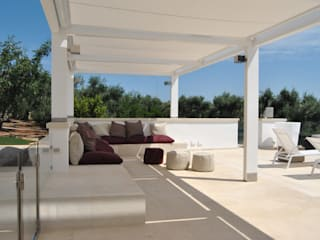 Varandas, marquises e terraços modernos por Sebastiano Canzano Architects Moderno