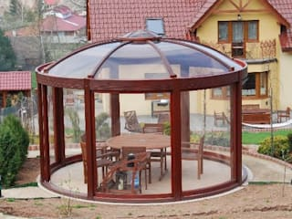 Our Work EcoCurves - Bespoke Glulam Timber Arches Jardínes: Ideas, imágenes y decoración