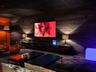 Tv & play room: Salas multimedia de estilo  de Originals Interiors