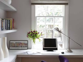 Chalcot Crescent:  Study/office by Living in Space
