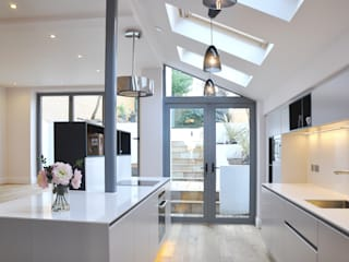 Kitchen in new extension Modern kitchen by homify Modern