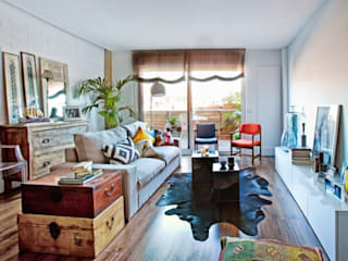 Foto: Patricia Gallego para Mí Casa. HEARST magazines I España.Reforma vivienda Chic and Cheap. Salón Chic and Cheap decoraCCion Salones de estilo escandinavo