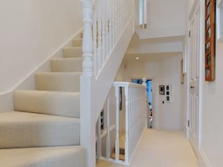 Fulham 2 MDSX Contractors Ltd Modern Corridor, Hallway and Staircase
