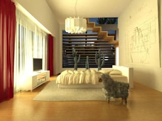casa di campagna Camera da letto moderna di maurococco.it Moderno