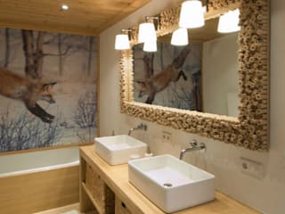 Rustic style bathroom by Raumkonzepte Peter Buchberger Rustic
