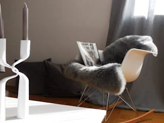 Münchner home staging Agentur GESCHKA Salas/RecibidoresTaburetes y sillas