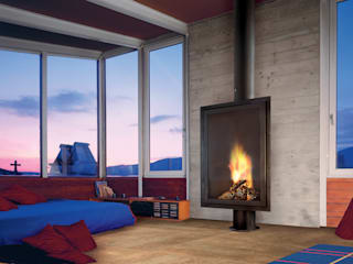 Eurofocus Fireplace de Diligence International Ltd Moderno
