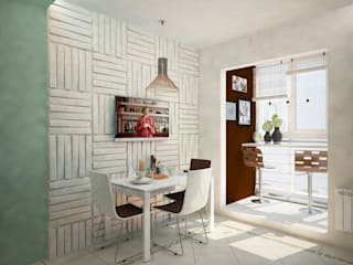 現代廚房設計點子、靈感&圖片 根據 Гурьянова Наталья 現代風