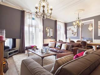 Salas de estilo  por Home Deco Decoración