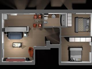 Appartamento privato - Roma di Marco D'Andrea Architettura Interior Design