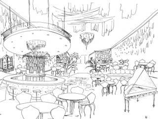 Idea para un ristorante de lujo en el Golden Mile, Marbella:  de estilo  de Alia B Designs