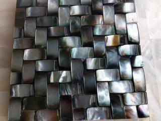Black Lip Mother of Pearl Tiles ShellShock Designs Murs & SolsCarrelage