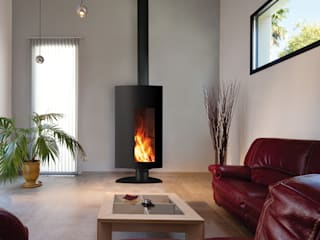 Stofocus Fireplace par Diligence International Ltd Moderne