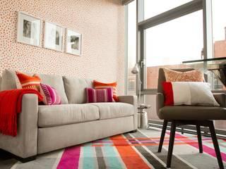 Hells Kitchen Penthouse Study/office by Bhavin Taylor Design