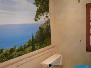 Dokumentation einer Wandmalerei Klassische Schlafzimmer von Illusionen mit Farbe Klassisch