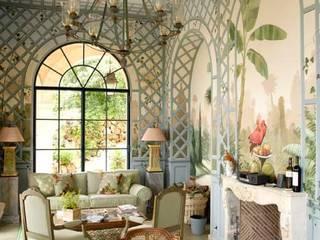 Wandmalerei im Wintergarten Klassische Wohnzimmer von Illusionen mit Farbe Klassisch
