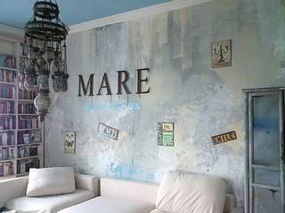 Wandgestaltung in Jugendzimmer:  Schlafzimmer von art & grafik