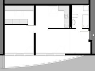 Umbau Dachgeschosswohnung, München:   von Brut Deluxe Architektur + Design