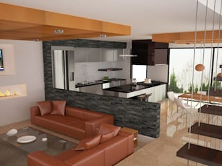 Casa MG Fuentes San Jose Salones modernos de Arquitectura Libre Moderno