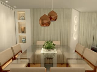 Dining room by Konverto Interiores + Arquitetura,