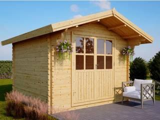 Gartenhäuschen PETER 9 m² (3 x 3) 34 mm : skandinavischer Garten von Pineca Group