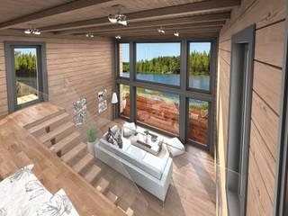 Casas unifamiliares de estilo  por THULE Blockhaus GmbH