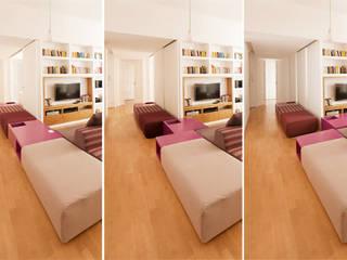 CASA PRIVATA 01 - ristrutturazione d'interni: Soggiorno in stile in stile Moderno di 81millimetri