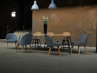 Ensemble Esszimmer in Industriedesign:  Esszimmer von works berlin