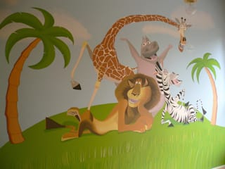 Murales Infantiles Madagascar:  de estilo  de MURALES MARAVILLOSOS