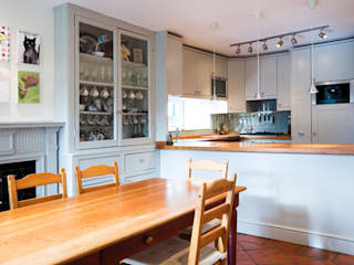 A Scandi Kitchen & Dining Room with an Arty Edge Scandinavian style kitchen by Cathy Phillips & Co Scandinavian