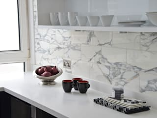 A Monochrome Kitchen - Minimal yet Practical Modern Kitchen by Cathy Phillips & Co Modern